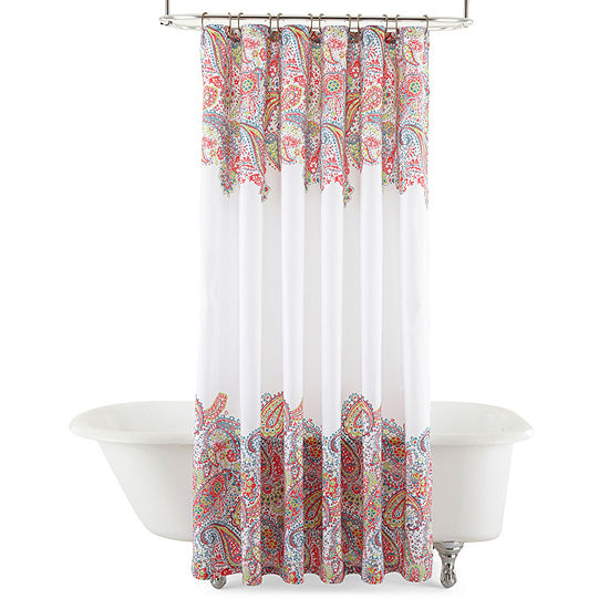 JCPenney HomeTM Paisley Shower Curtain