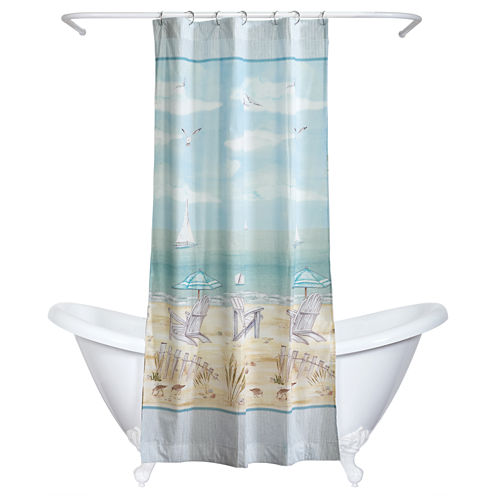India Ink Seaside Serenity Shower Curtain