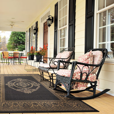 Couristan® Antique Medallion Indoor/Outdoor Rectangular Rug
