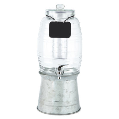 Sedona Rustic Beverage Dispenser With Chalkboard
