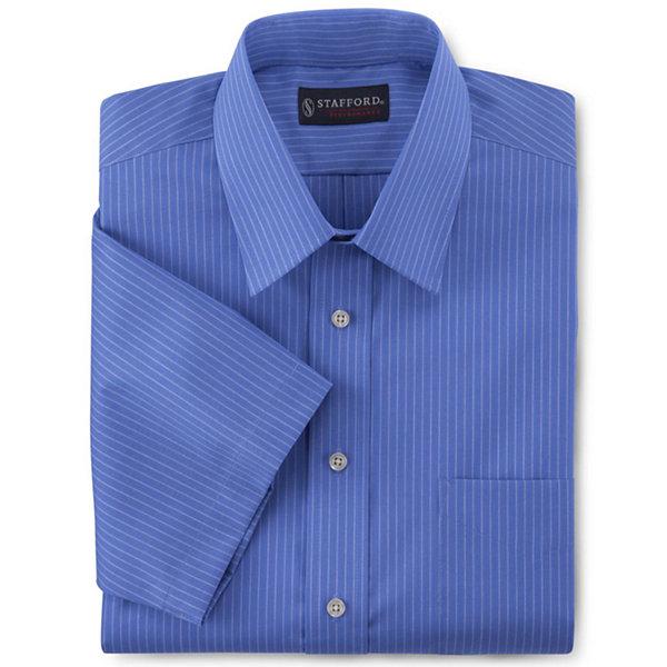 Stafford short sleeve easy care broadcloth dress shirt big for Stafford big and tall shirts