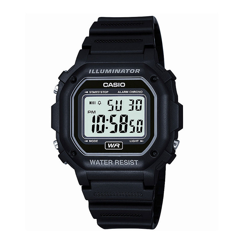 Casio Mens Black Resin Strap Square Digital Sport Watch F108WH-1AOS