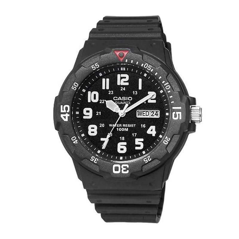 Casio Mens Black Resin Strap Diver Sport Watch MRW200H-1BV