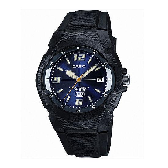 Casio Mens Blue Dial Black Resin Strap Sport Watch Mw600f 2avos
