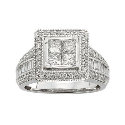 1½ CT. T.W. Diamond 10K White Gold Multi-Top Bridal Ring