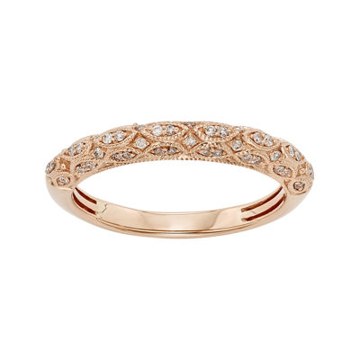 1/5 CT. T.W. Certified Diamond 14K Rose Gold Wedding Band