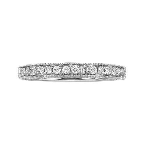 1/4 CT. T.W. Certified Diamond 14K White Gold Wedding Band