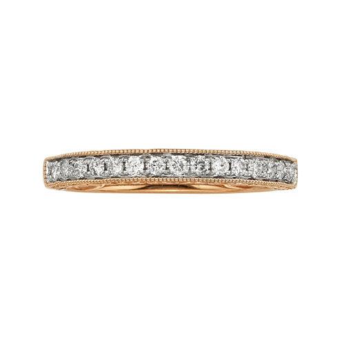 1/4 CT. T.W. Certified Diamond 14K Rose Gold Wedding Band