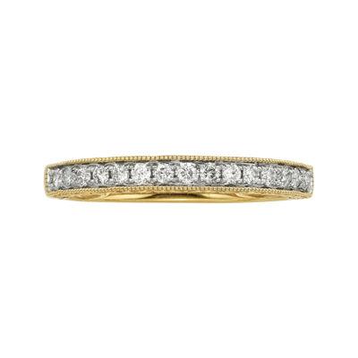 1/4 CT. T.W. Certified Diamond 14K Yellow Gold Wedding Band