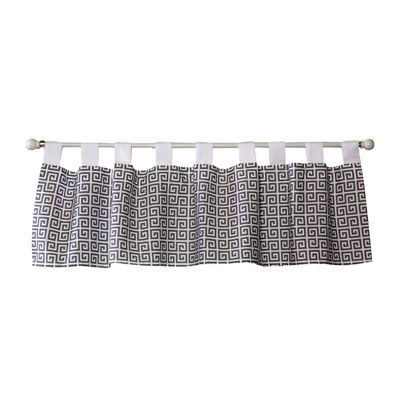 Trend Lab® Gray Greek Key Window Valance