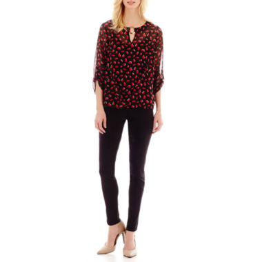 jcpenney.com | Alyx® Print Bubble Top or Slim Pull-On Pants