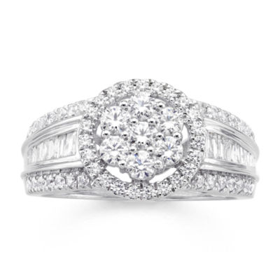 diamond blossom 1 CT. T.W. Diamond 10K White Gold Ring