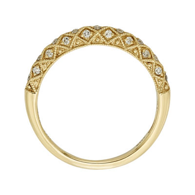 1/6 CT. T.W. Certified Diamond 14K Yellow Gold Wedding Band