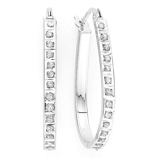 d9f36f52b Diamond Fascination Sterling Silver Hoop Earrings