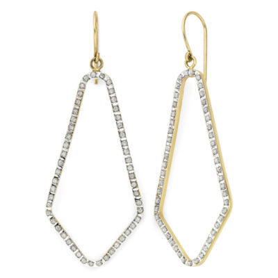 Diamond Fascination™ 14K Yellow Gold Open Geometric Earrings