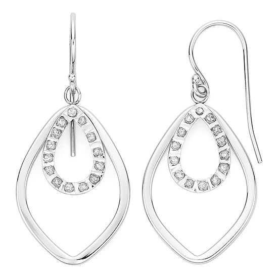 Diamond Fascination™ Sterling Silver Layered Drop Earrings