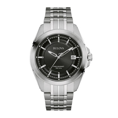 Bulova® UHF Precisionist Mens Stainless Steel Watch 96B252
