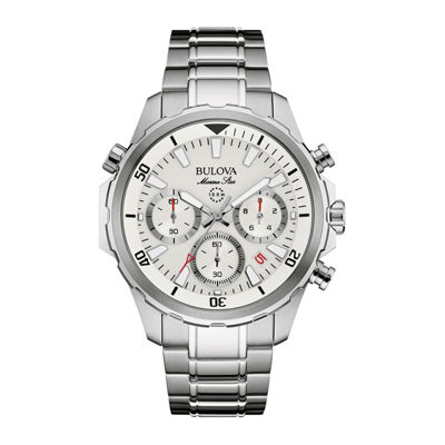 Bulova® Marine Star Mens Stainless Steel Chronograph Watch 96B255