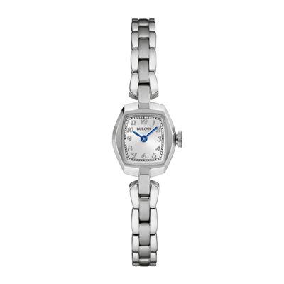Bulova® Classic Womens Tonneau Stainless Steel Bracelet Watch 96L221
