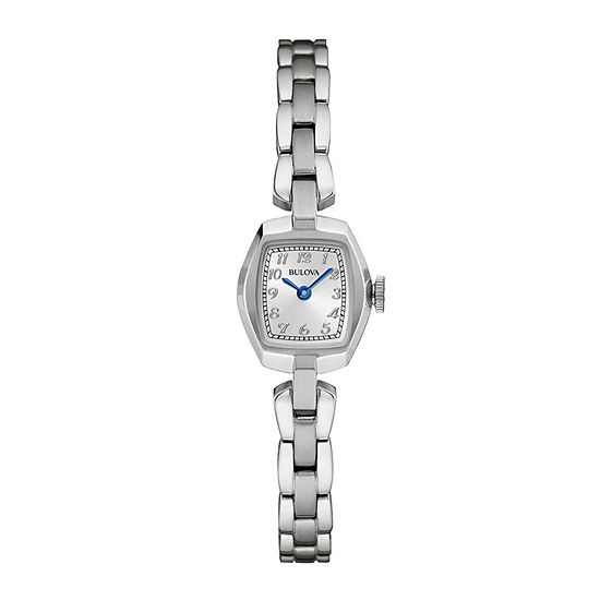 Bulova® Classic Womens Tonneau Stainless Steel Bracelet Watch 96L221