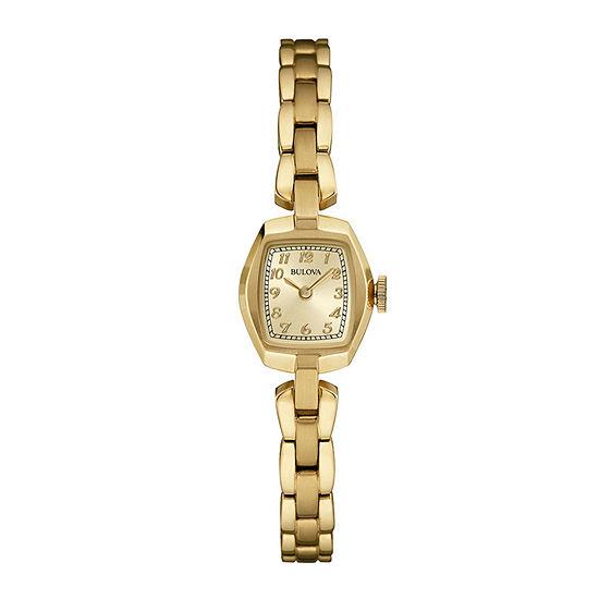 Bulova Womens Gold Tone Stainless Steel Bracelet Watch - 97l155