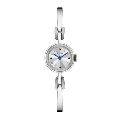 Bulova® Classic Womens Stainless Steel Bangle Bracelet Watch 96L222