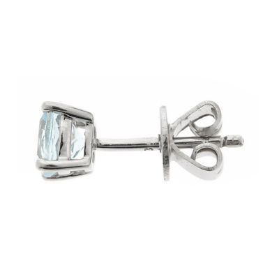 LIMITED QUANTITIES  Genuine Aquamarine Sterling Silver Stud Earrings