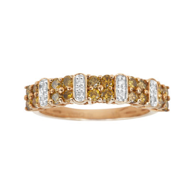 LIMITED QUANTITIES  3/4 CT. T.W. White and Color-Enhanced Yellow Diamond Ring