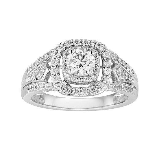 I Said Yes™ 1 CT. T.W. Diamond Double-Frame 10K White Gold Bridal Ring