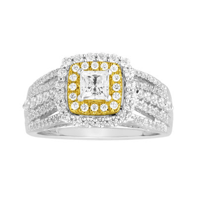 I Said Yes™ 1 CT. T.W. Diamond Double-Frame Two-Tone Gold Bridal Ring
