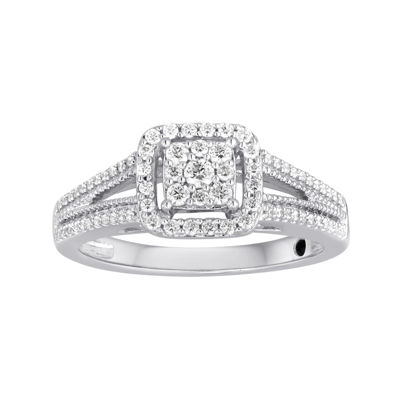I Said Yes™ 3/8 CT. T.W. Diamond Framed Platinaire® Engagement Ring