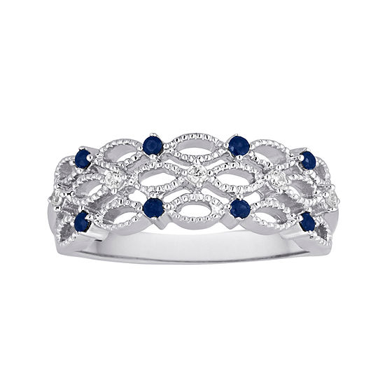 I Said Yes™ Genuine Sapphire and Diamond-Accent Platinaire® Band