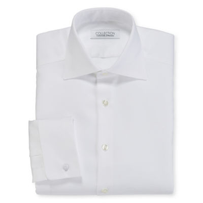 Collection by Michael Strahan Cotton Stretch French Cuff Tuxedo Shirt