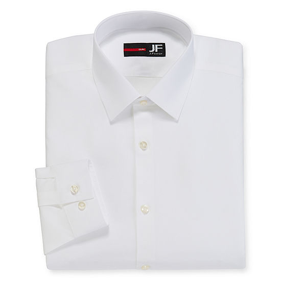 JF J. Ferrar® Cotton Stretch Dress Shirt - Slim Fit
