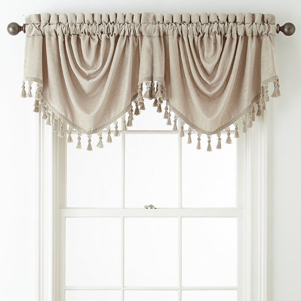 Royal Velvet® Luxury Chenille Rod-Pocket/Back-Tab Trumpet Valance