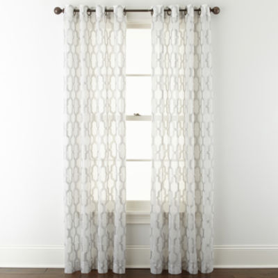 JCPenney Home Casey Sheer Grommet-Top Curtain Panel