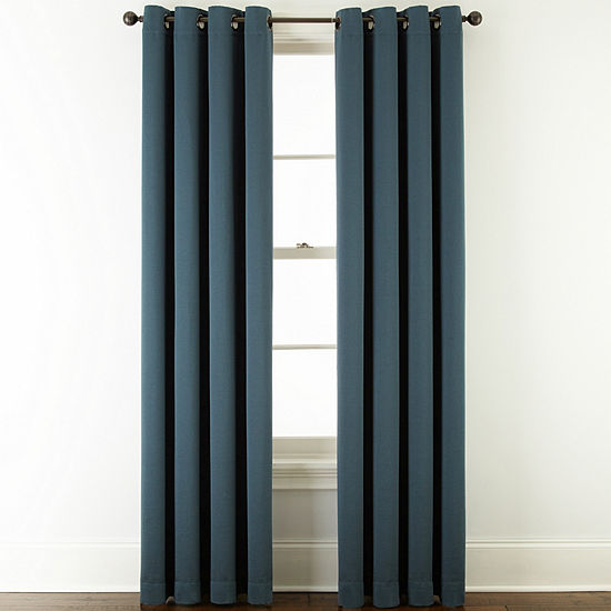 JCPenney Home McKenna Room-Darkening Grommet-Top Curtain Panel