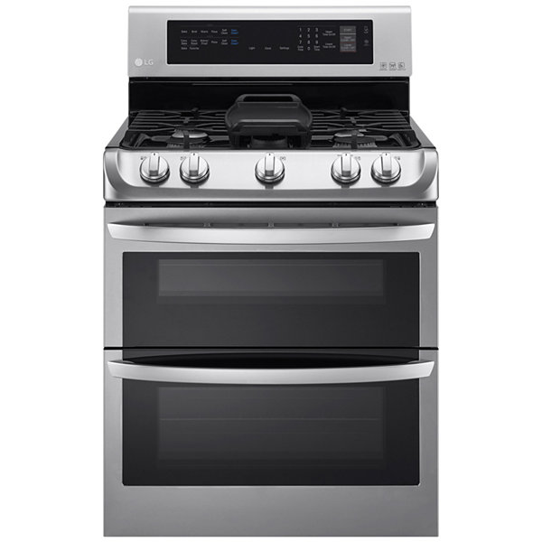 LG 6.9 cu. ft. Gas Double Oven Range with ProBake Convection™, EasyClean® and Gliding Rack