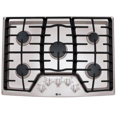 """LG 30"""" Recessed Gas Cooktop with 5 Burners including 17K SuperBoil™ Burner"""