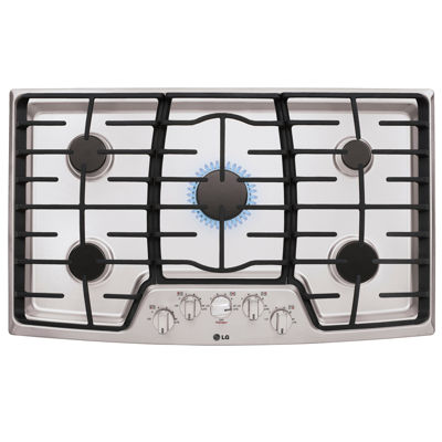 "LG 36"" Gas Cooktop with 5 Burners and Center SuperBoil™ Burner"