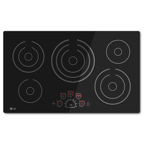 "LG 36"" Radiant Cooktop with 5 Elements and SmoothTouch™ Glass Controls"