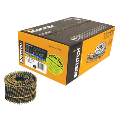 """Bostitch Stanley C8R90BDG 2-1/2"""" Ring Shank 15 Coil Siding Nail 3600 Count"""