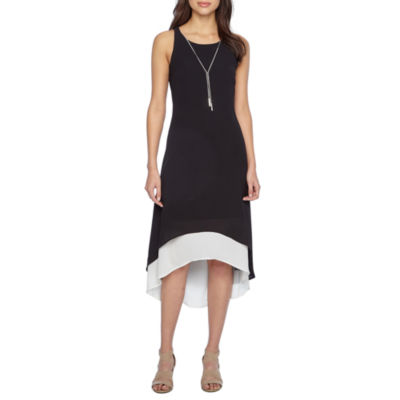 R & K Originals Sleeveless Hi-Lo Maxi Dress