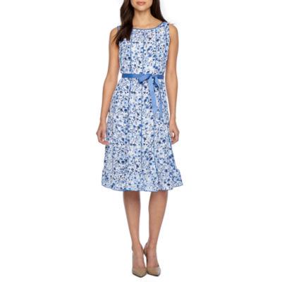 Studio 1 Sleeveless Floral Fit & Flare Dress