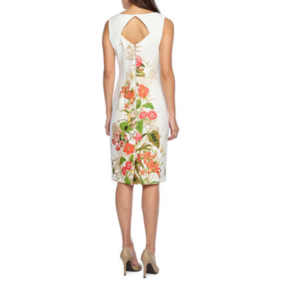 Danny & Nicole Sleeveless Floral Sheath Dress