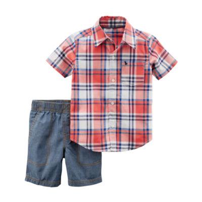 Carter's 2-pc. Short Set Baby Boys NB-24M