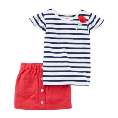 Carter's 2-pc. Skirt Set Toddler Girls Regular 2T-5T
