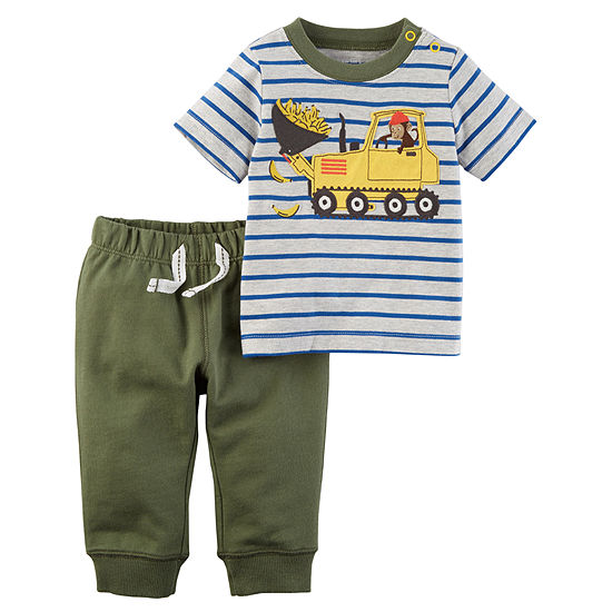 Carter's Baby Boys 2-pc. Striped Pant Set