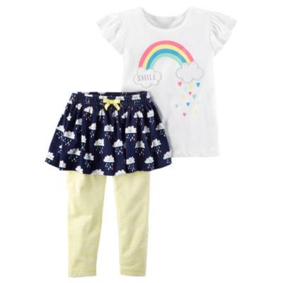 Carter's Rainbow 2-pc. Tee & Legging Set - Baby Girls