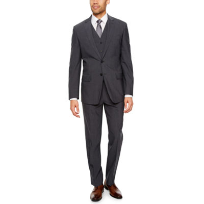 Claiborne Gray Texture Slim Fit Suit Separates